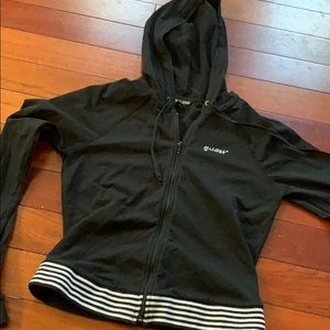Guess black zip up jacket size small